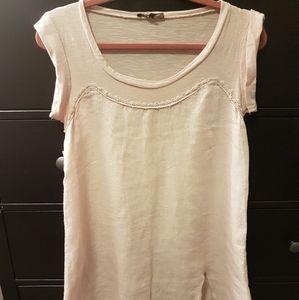 Italian pale pink vintage linen dress